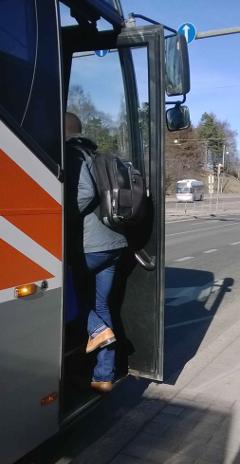 Töölö bussilla kotiin