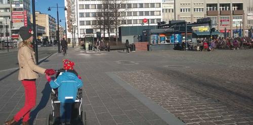 Kuopion torilla bussipysäkillä